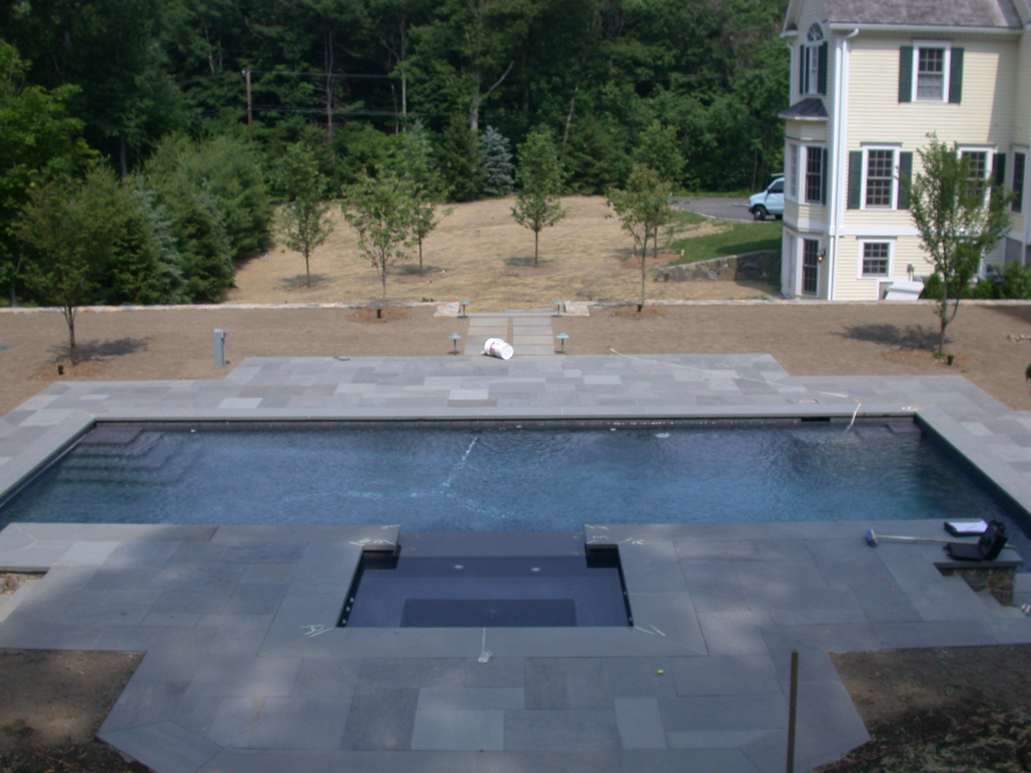 Natural Stone Pool Deck Alluring How To Frame The Pool Deck  Shoreline Pools