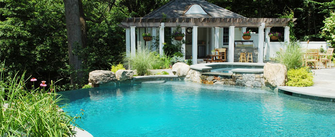 What are the top features for pool spas shoreline pools for Pool design and construction