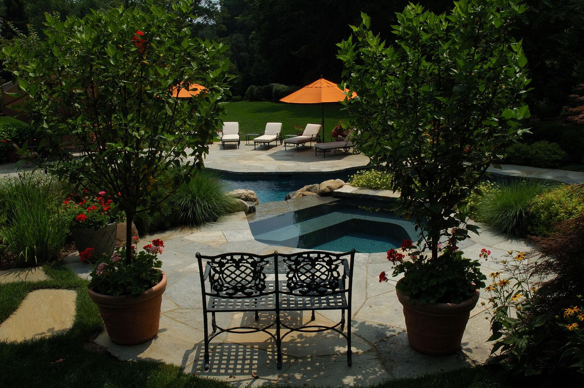 Naturalistic hideaway pool design shoreline pools for Pool design names